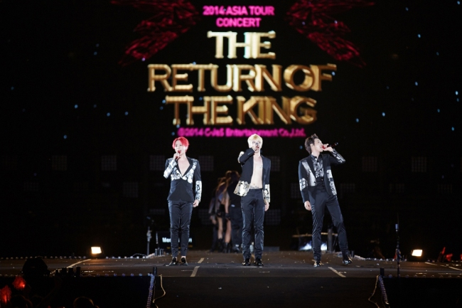 JYJ on stage in the Seoul concert. Photo: C-JeS Entertainment.