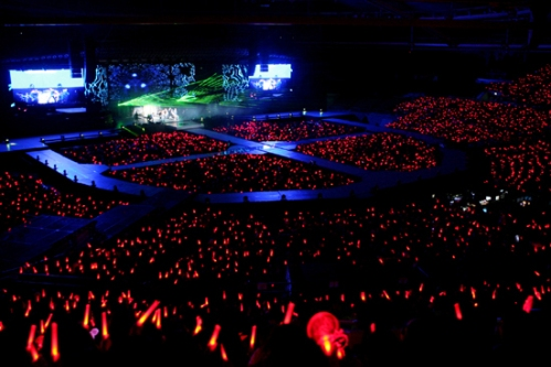 TVXQ!'s concert stage in Seoul. Photo: S.M. Entertainment.