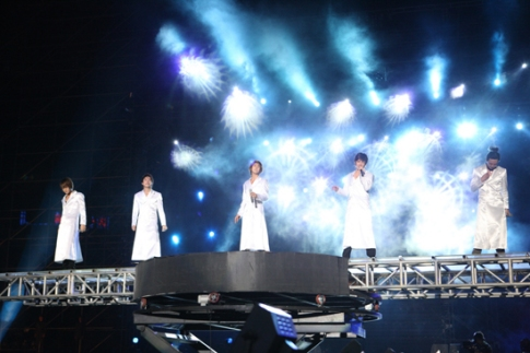 "TVXQ! performing ""Remember"" in Beijing. Photo: S.M. Entertainment."