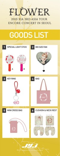 Seoul encore concert goods. Photo: C-JeS Entertainment.