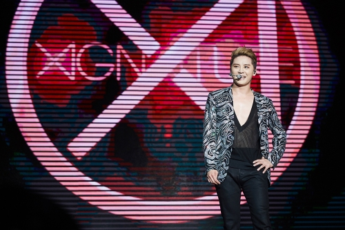 XIA on stage in the Shanghai concert. Photo: C-JeS Entertainment.