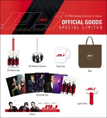 Seoul special limited concert goods pack. Photo: C-JeS Entertainment.
